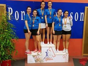 Grand Est 2019 - Double dames juniors_Apolline Houver or et Valentine Bellott bronze