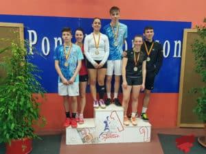 Grand Est 2019 - Double mixte juniors_Valentine Bellott 3e